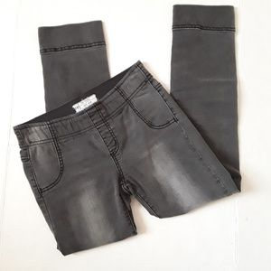 Free People Dark Gray Skinny Jeans